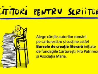 Bursele de creație literară Fundația Cărturești în parteneriat cu Asociația Maria și Pro Patrimonio