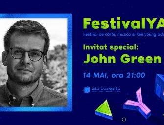 Scriitorul John Green spune da întâlnirii cu adolescenții din FestivalYA: festival de carte și idei Young Adult