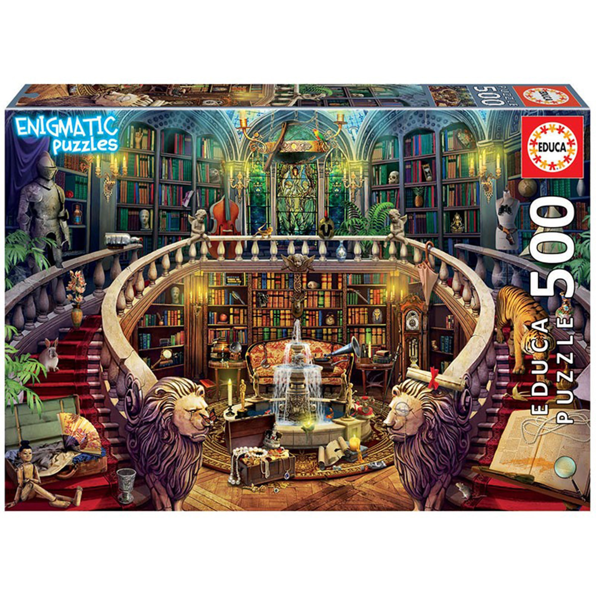 Puzzle 500 piese - Enigmatic Antiqe Library | Educa