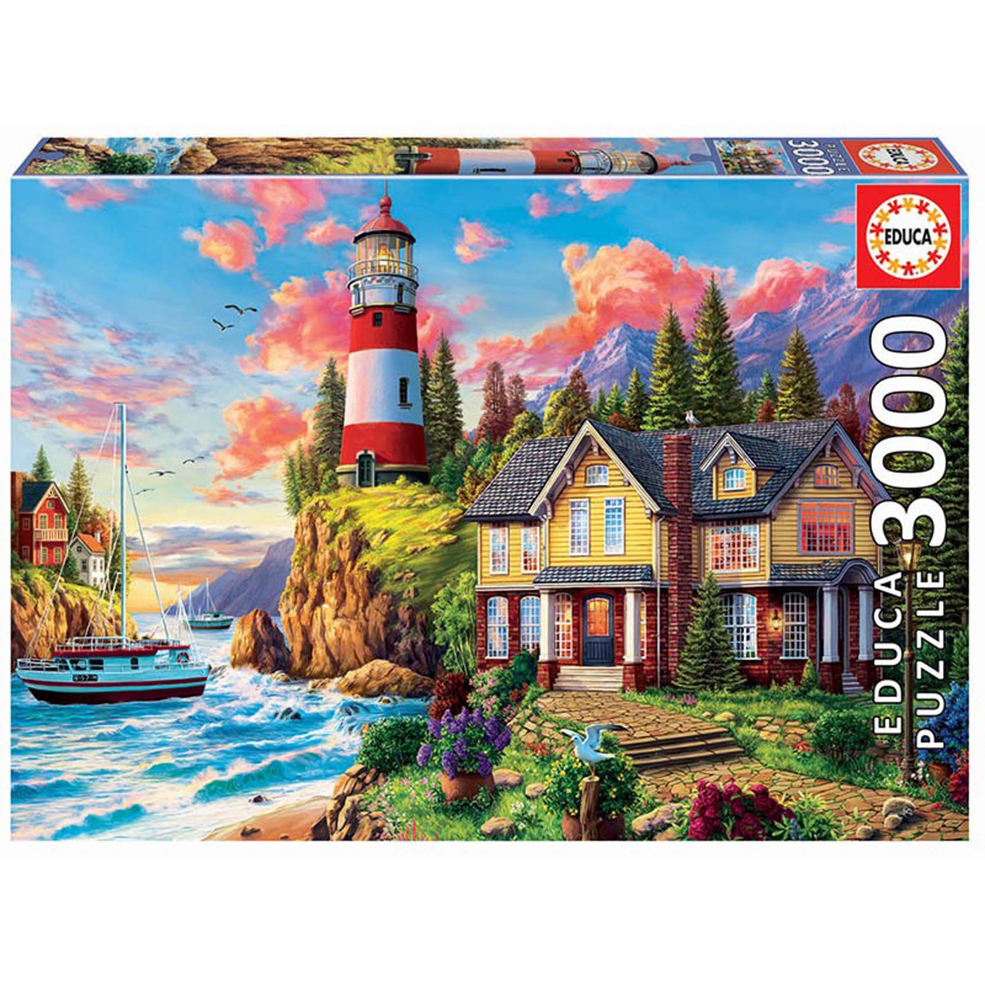 Puzzle - Lighthouse landscape, 3000 piese | Educa