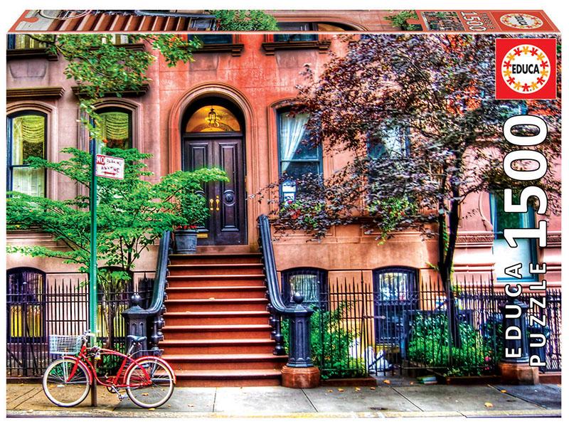 Puzzle 1500 piese - Greenwich Village, New York | Educa