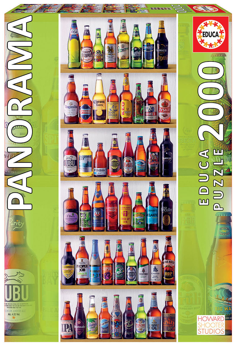 Puzzle 2000 piese - Panorma - World Beers | Educa