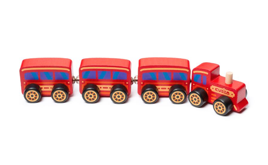 Jucarie din lemn - Trenulet   Cubika - 2