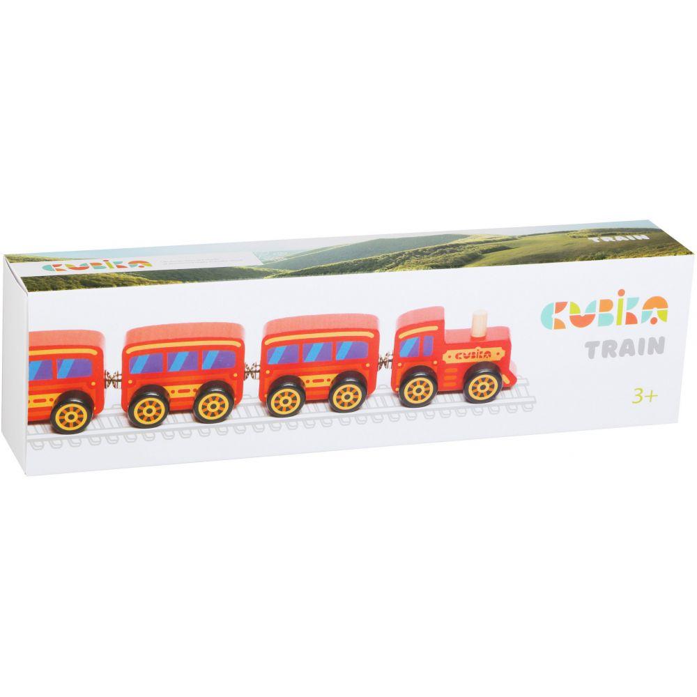 Jucarie din lemn - Trenulet   Cubika - 1