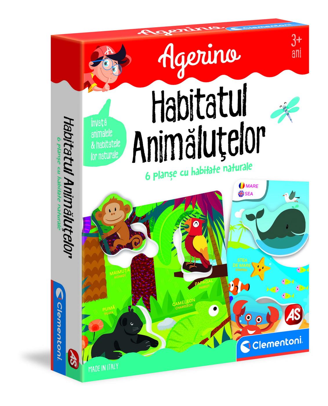 Joc - Agerino: Habitatul animalutelor | Clementoni