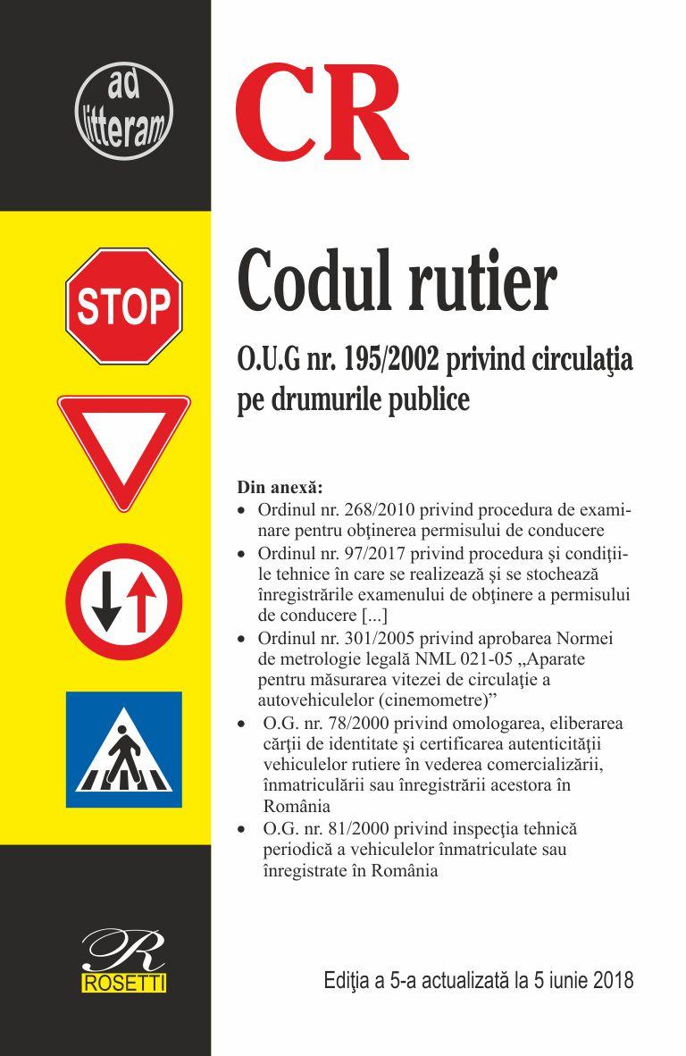 Codul rutier - editia 2018