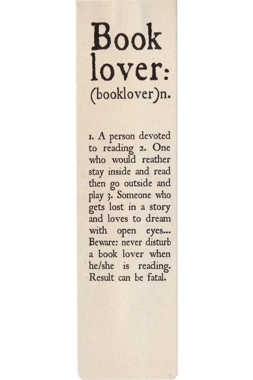 Semn de carte - Booklover definition