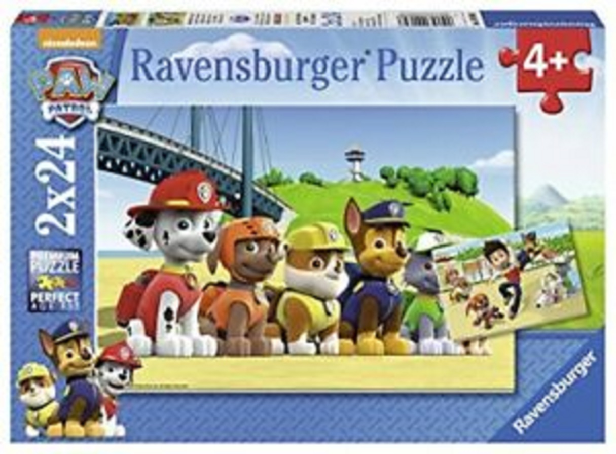 Puzzle 2 X 24 piese - Patrula Catelusilor | Ravensburger