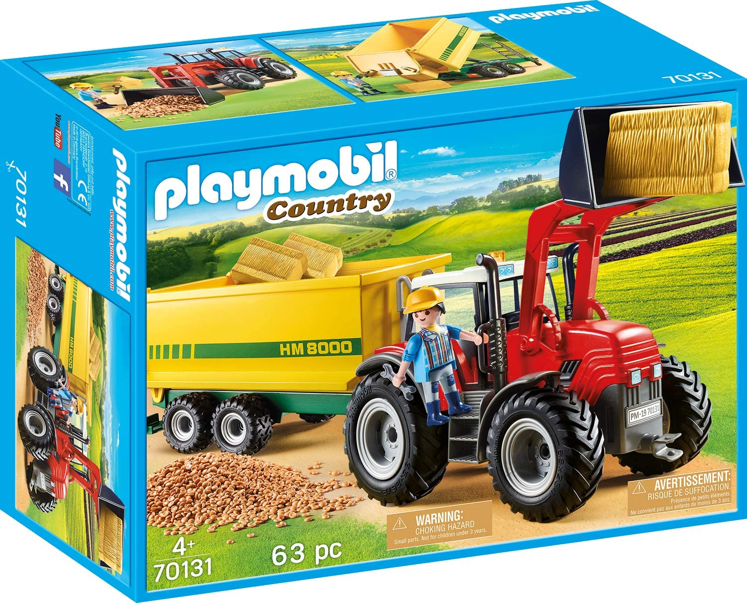 Set jucarii - Farm Tractor with Feed Trailer | Playmobil