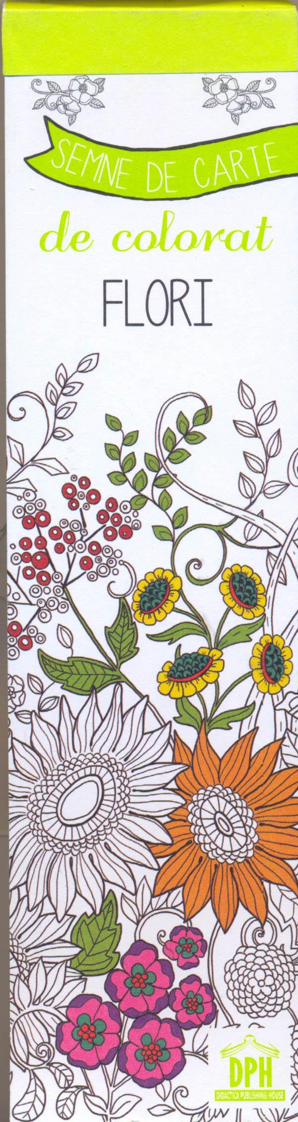 Colorez semnele mele de carte - Flori