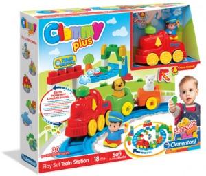 Jucarie - Cuburi Clemmy Plus - Statie de tren   Clementoni