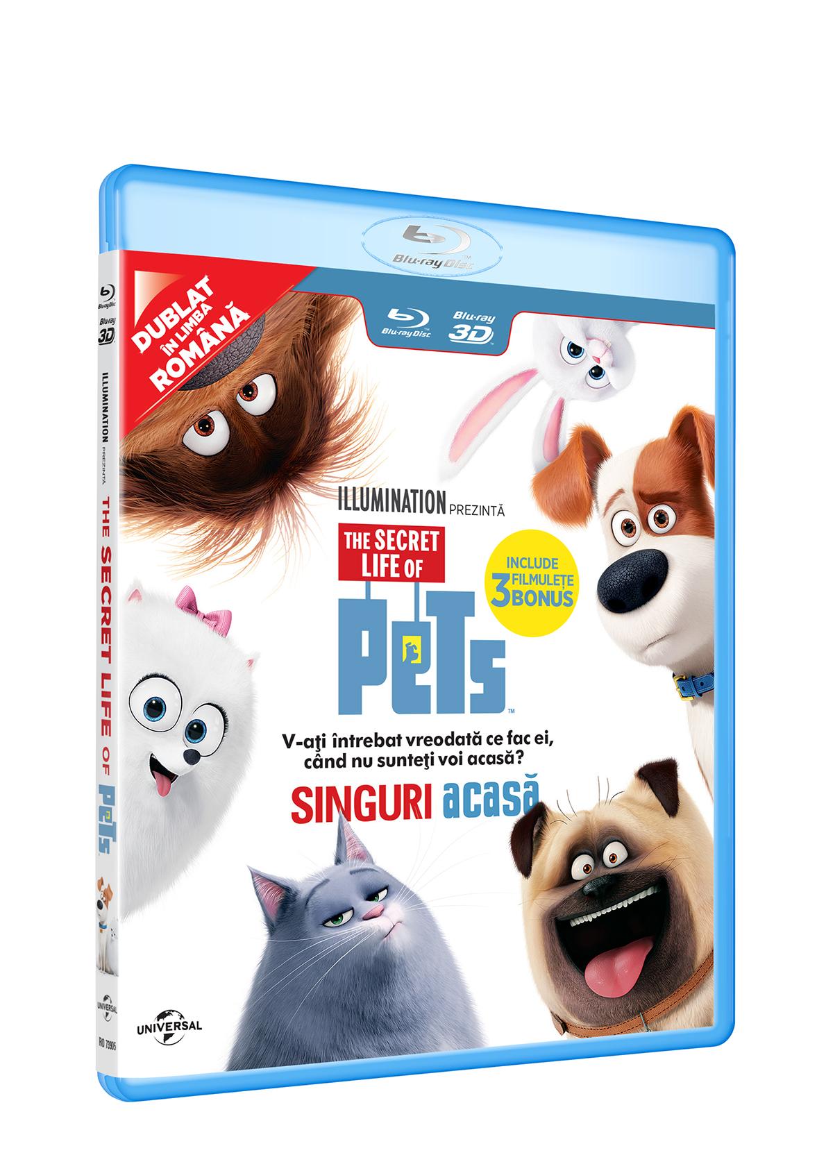 Singuri Acasa 2D+3D (Blu Ray Disc) / The Secret Life of Pets