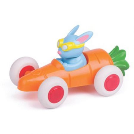 Jucarie - Pilot de curse iepuras in masina morcov | Viking Toys