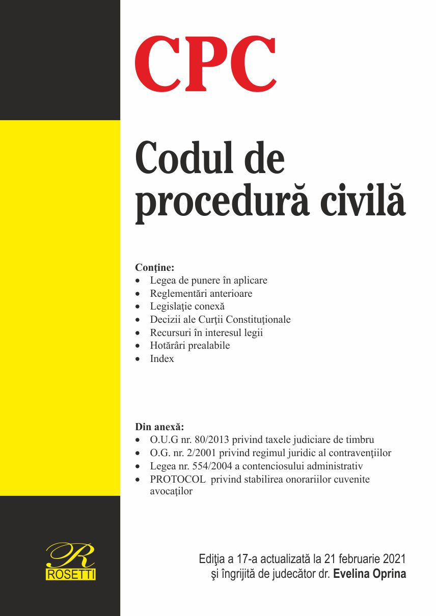 Imagine Codul De Procedura Civila - 21 Februarie 2021 -