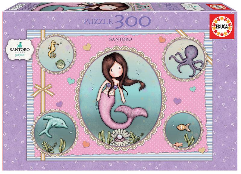 Puzzle 300 piese - Gorjuss - So Nice to Sea You   Educa