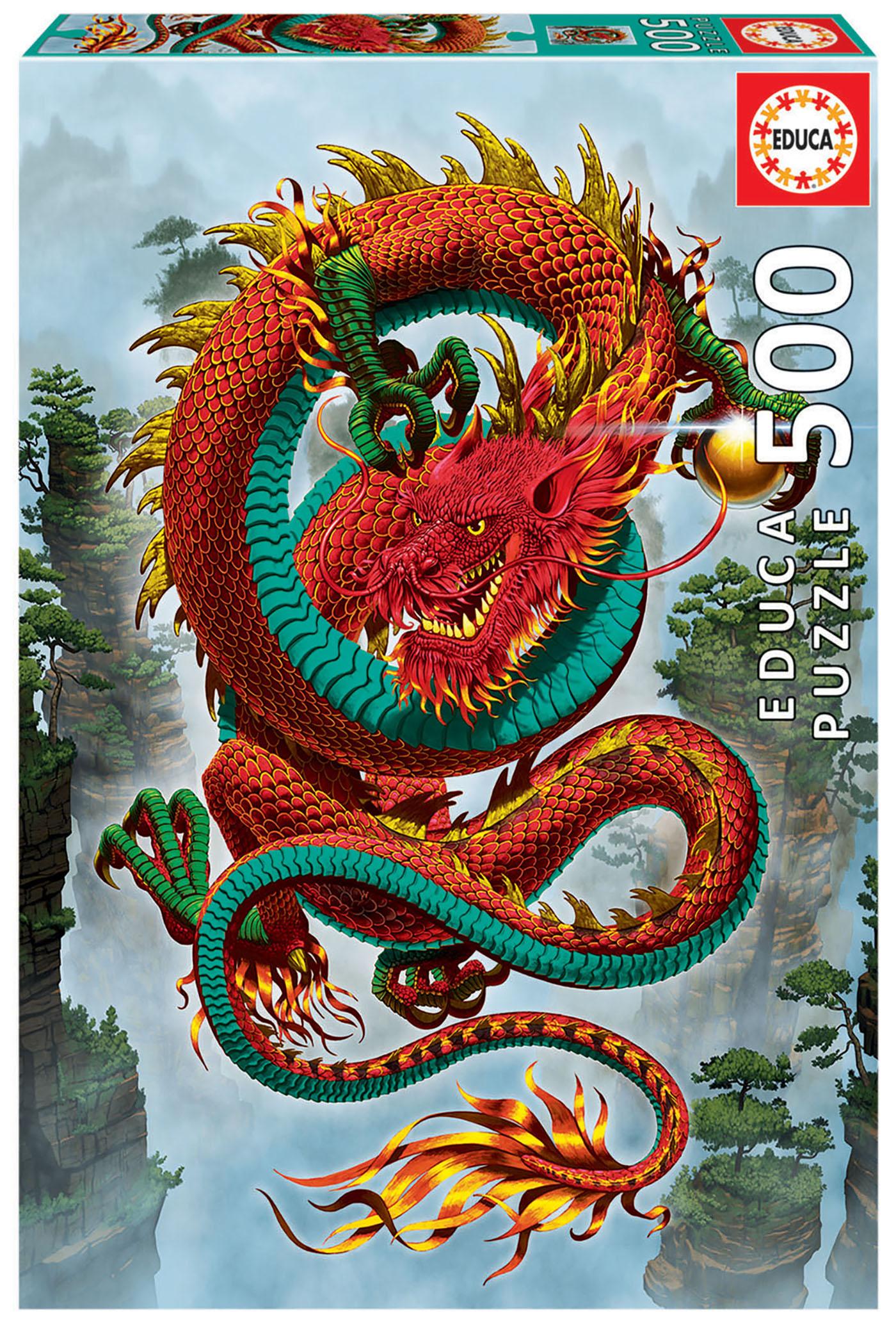 Puzzle 500 piese - Good Fortune Dragon | Educa