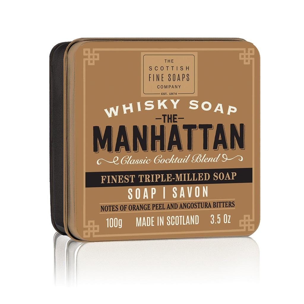 Sapun in cutie metalica - Manhattan, 100 g | The Scottish Fine Soaps image0