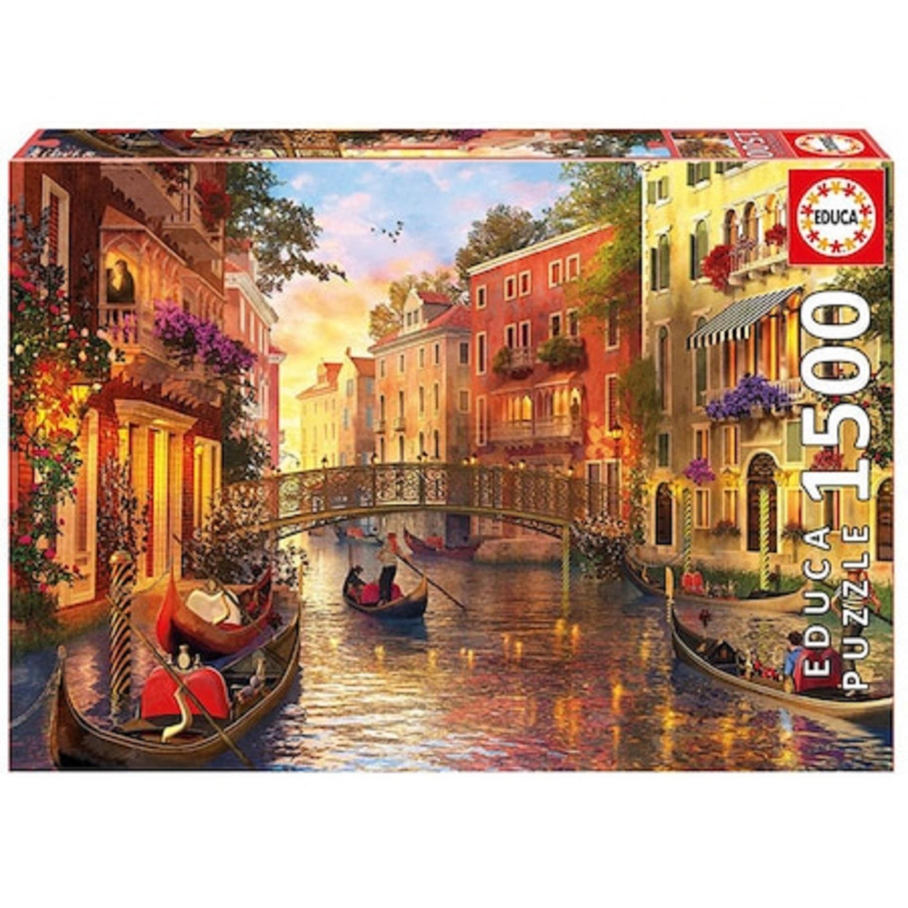 Puzzle 1500 piese - Amurg la Venetia | Educa