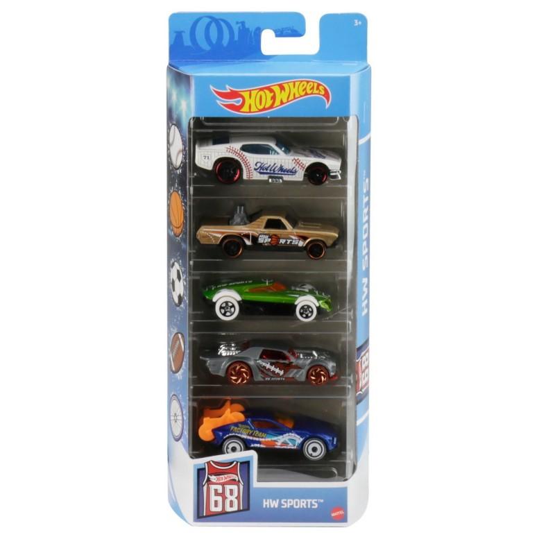 Set 5 masini de jucarie - Hot Wheels Sports | Mattel