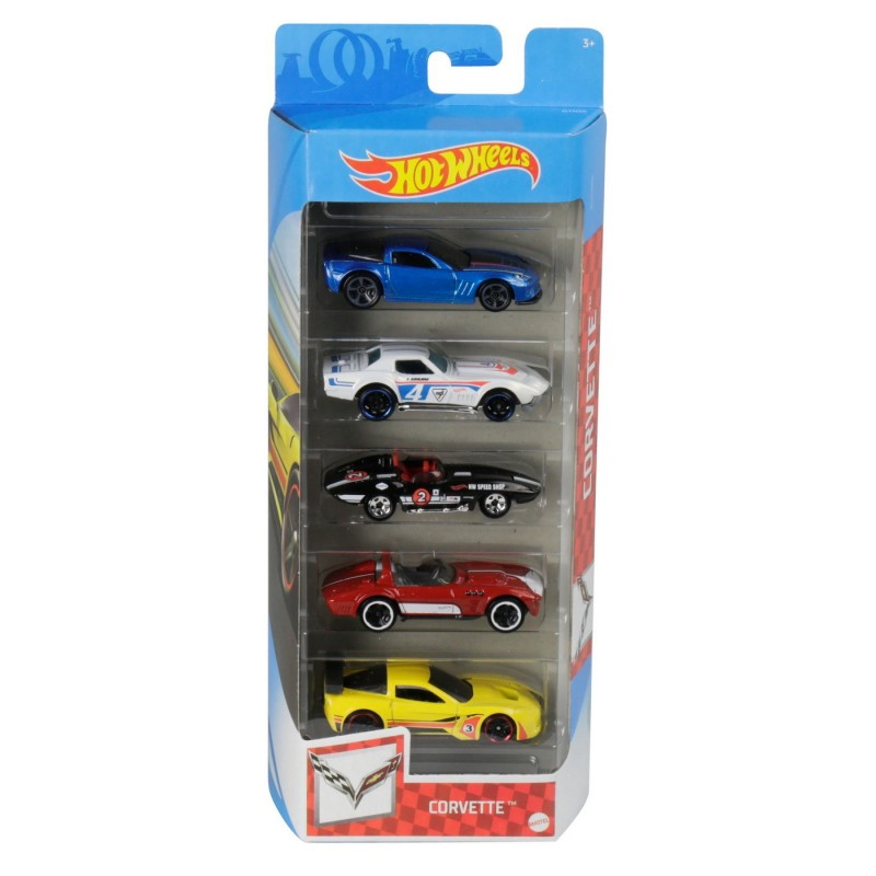Set 5 masini de jucarie - Corvette | Mattel