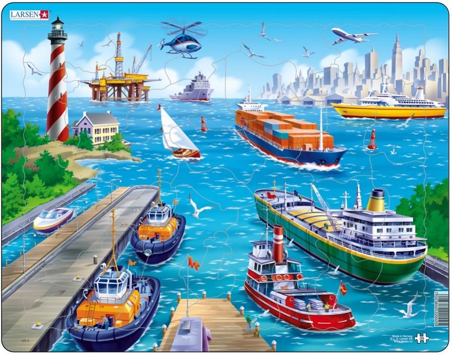 Puzzle - In port | Larsen