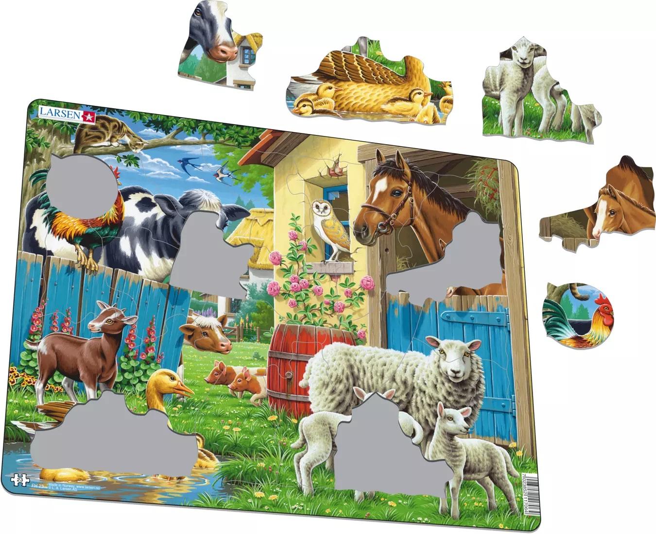Puzzle - Animale de la ferma   Larsen