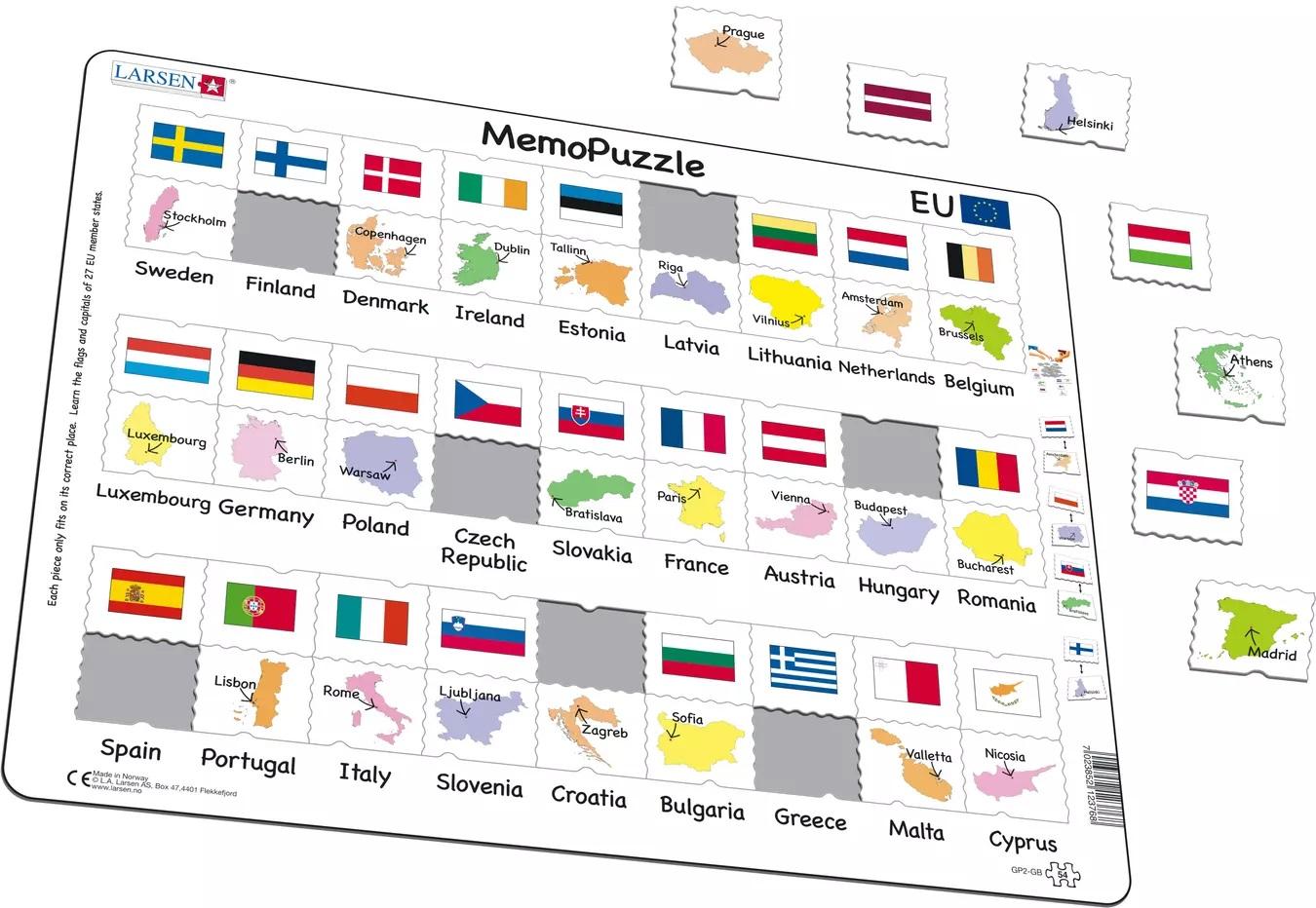 Puzzle - Capitale si steagurile tarilor | Larsen