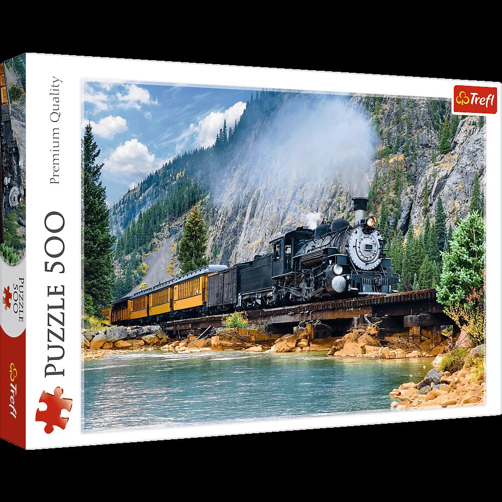 Puzzle 500 de piese - Trenul de munte | Trefl