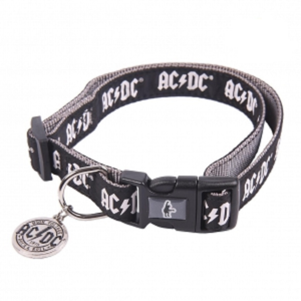 Zgarda pentru catei - AC/DC - Marimea M/L