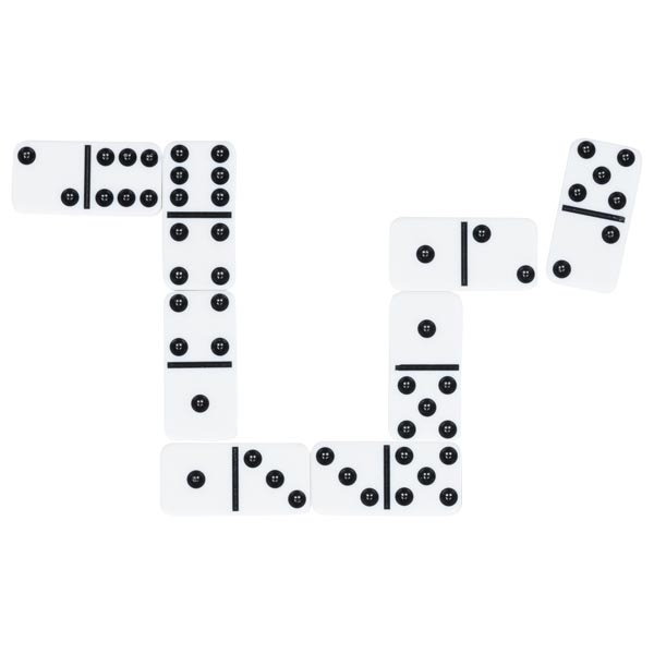 Joc - Domino, 28 piese albe | Goki