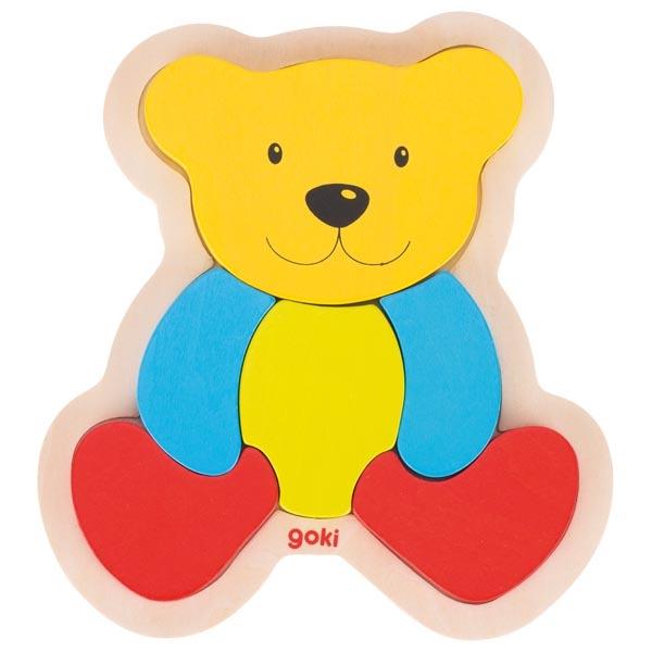 Puzzle din lemn - Bear   Goki