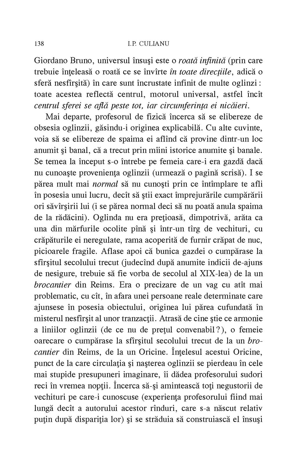 Arta fugii. Povestiri   Ioan Petru Culianu - 8