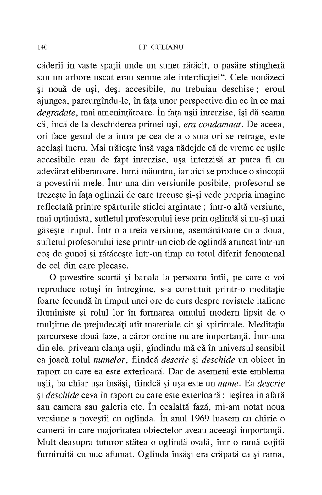 Arta fugii. Povestiri   Ioan Petru Culianu - 3