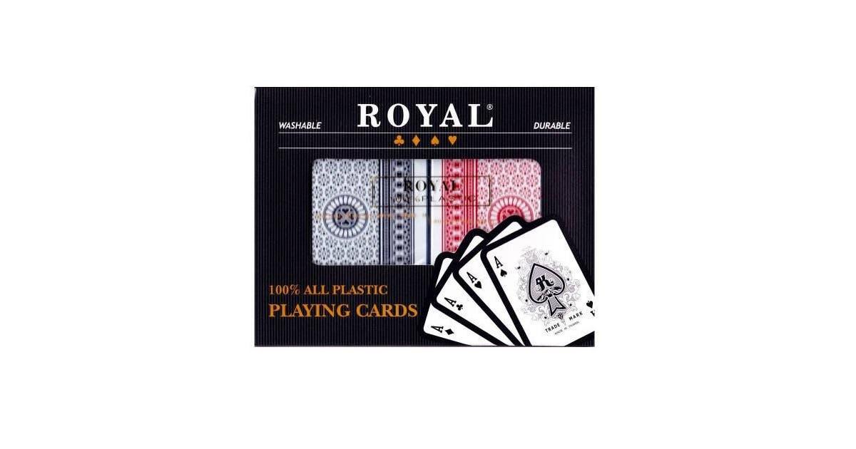 Set 2 Pachete Carti Royal Canasta Poker - Din Plastic