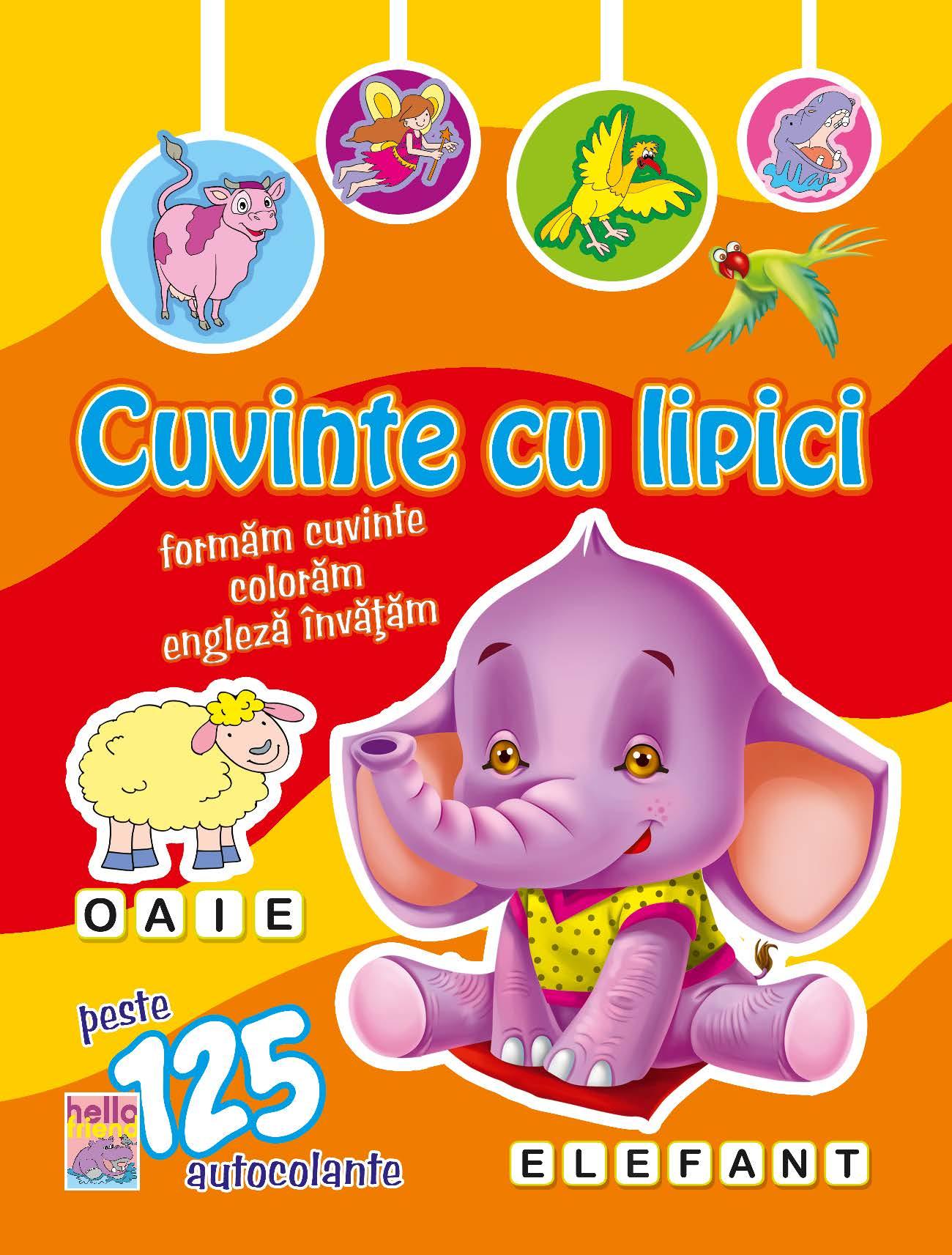 Cuvinte cu lipici - Elefant
