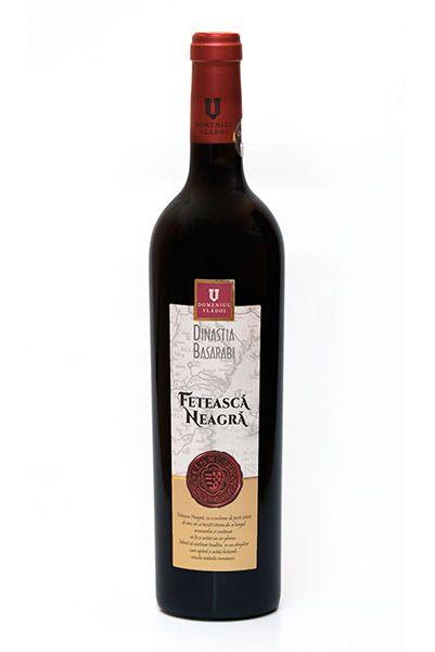 Vin rosu - Domeniul Vladoi, Dinastia Basarabi - Feteasca Neagra, 2015, sec Domeniul Vladoi