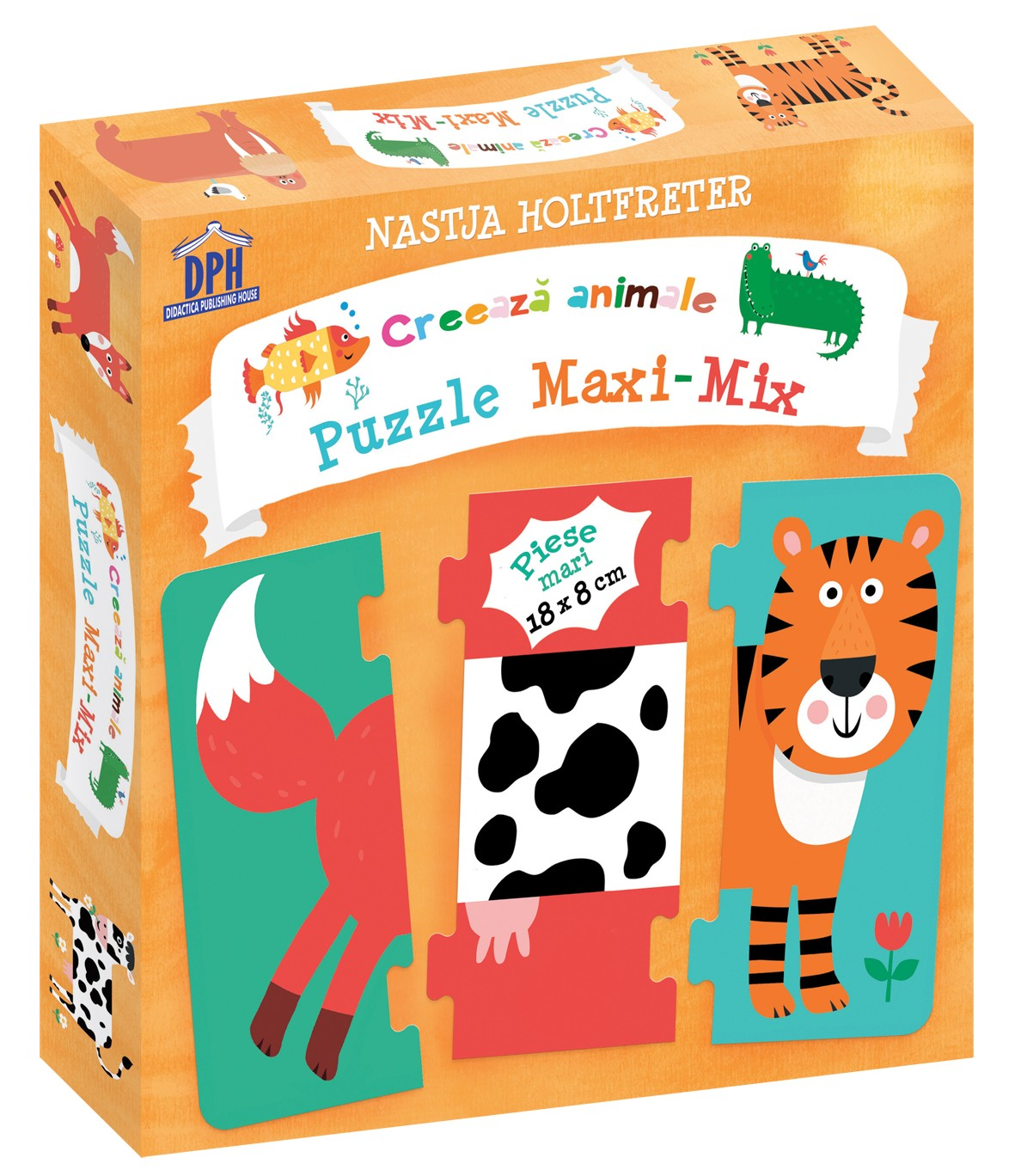 Creeaza animale - Puzzle Maxi-Mix | Didactica Publishing House