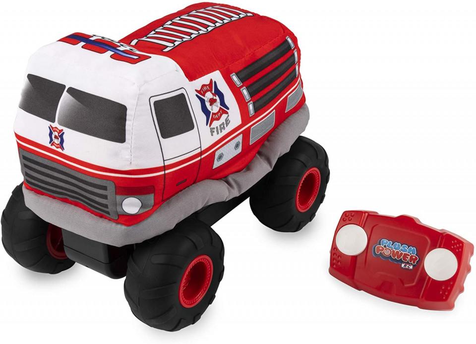 Masina cu radiocomanda - Plush Power: Squeezable RC Racer-Fire Truck | Spin Master