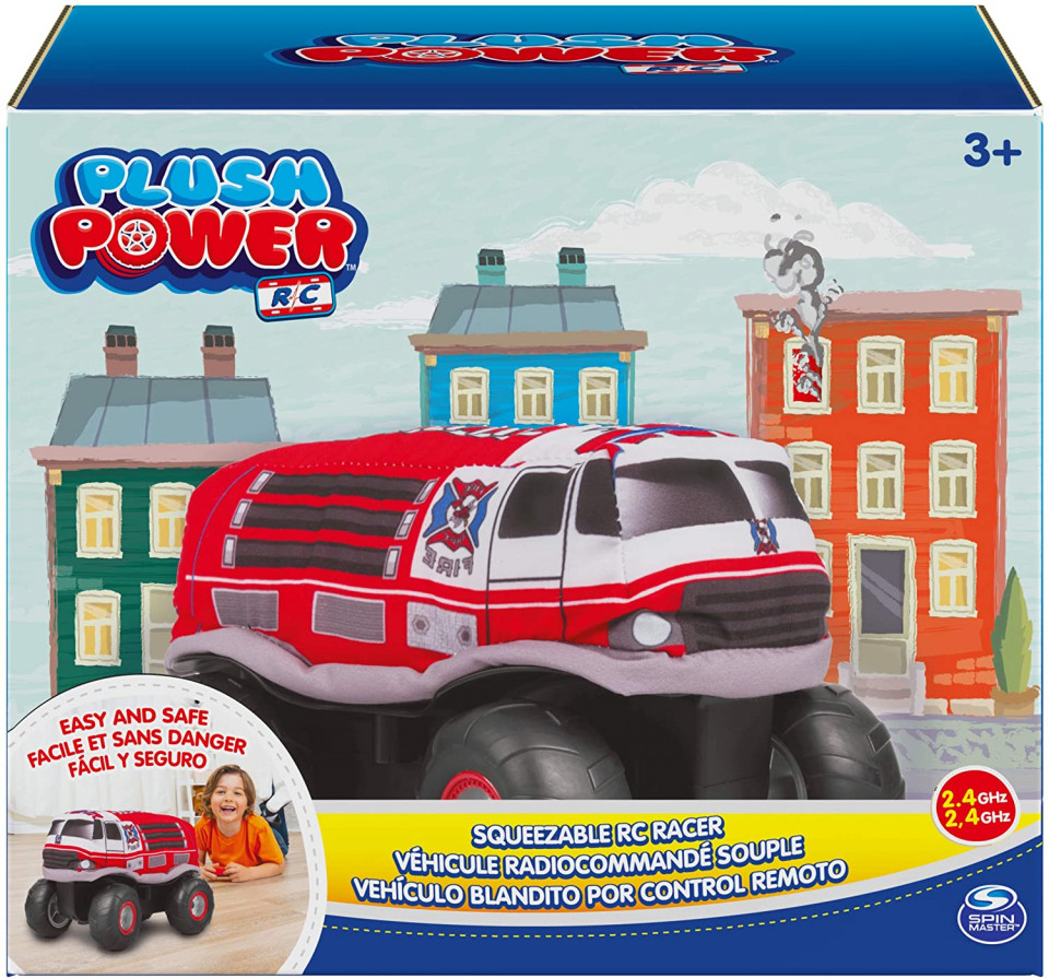 Masina cu radiocomanda - Plush Power: Squeezable RC Racer-Fire Truck   Spin Master - 1
