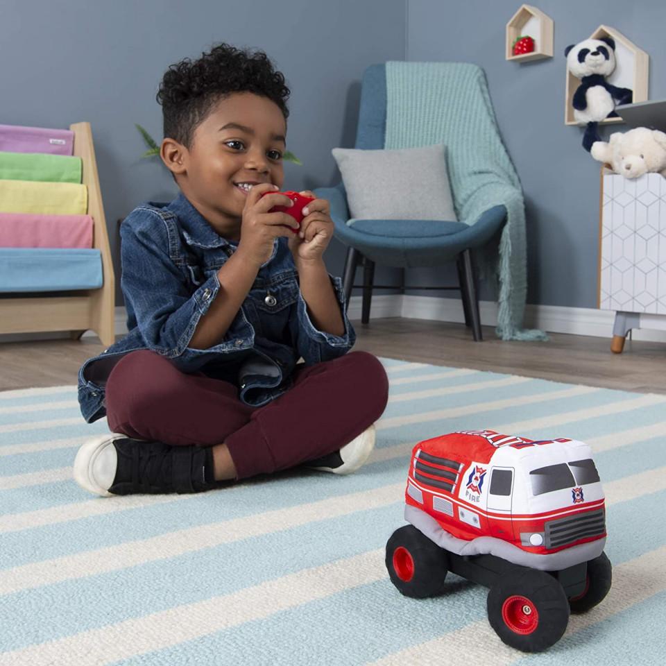 Masina cu radiocomanda - Plush Power: Squeezable RC Racer-Fire Truck   Spin Master - 2