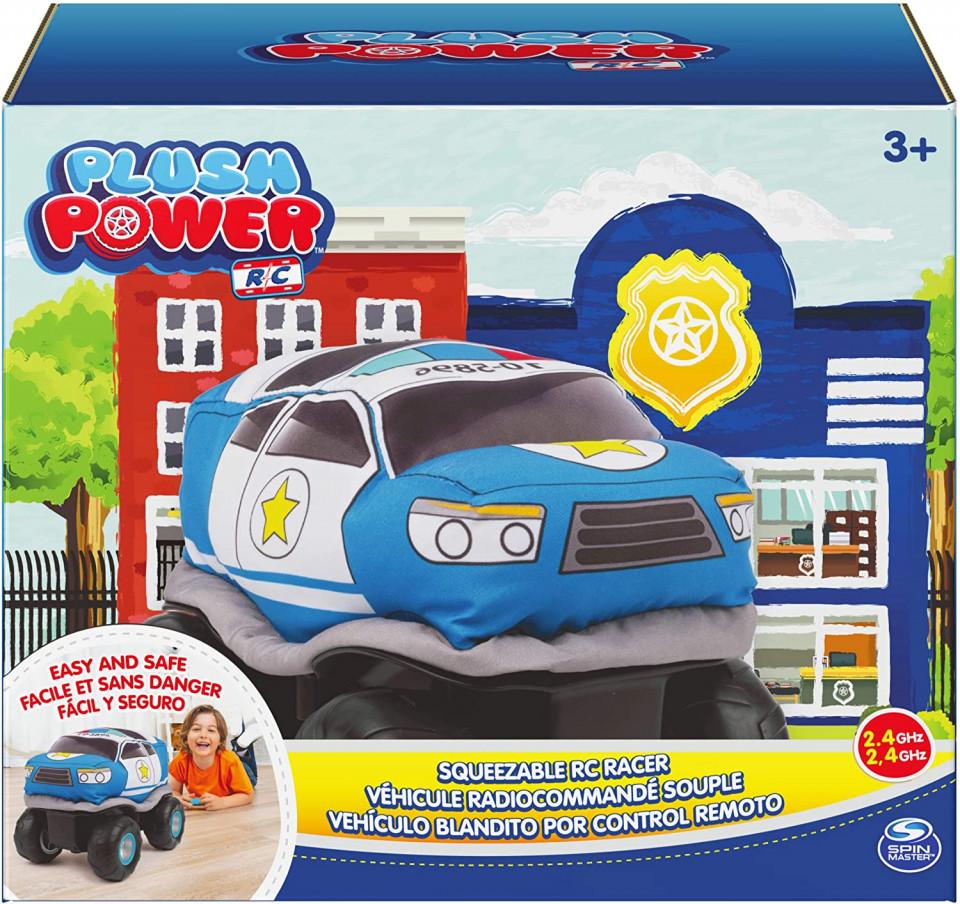 Masina cu radiocomanda - Plush Power: Squeezable RC Racer-Police | Spin Master - 1