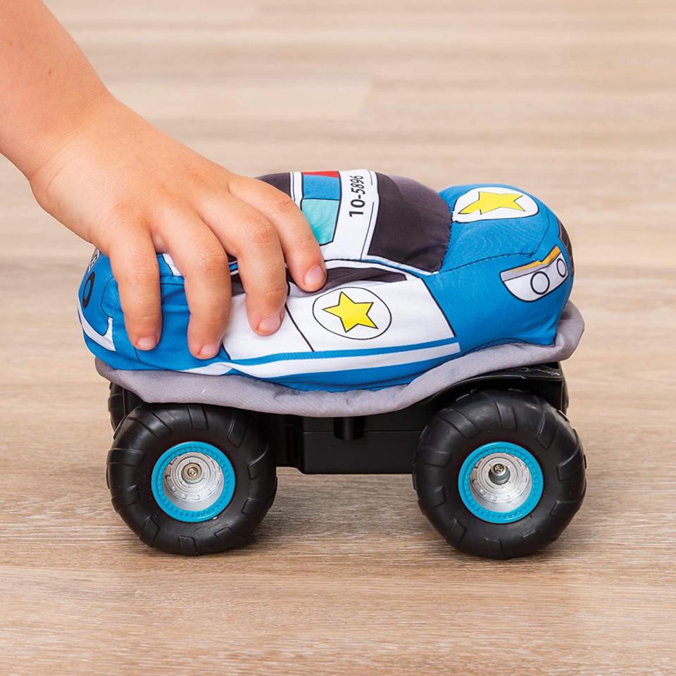 Masina cu radiocomanda - Plush Power: Squeezable RC Racer-Police | Spin Master - 3