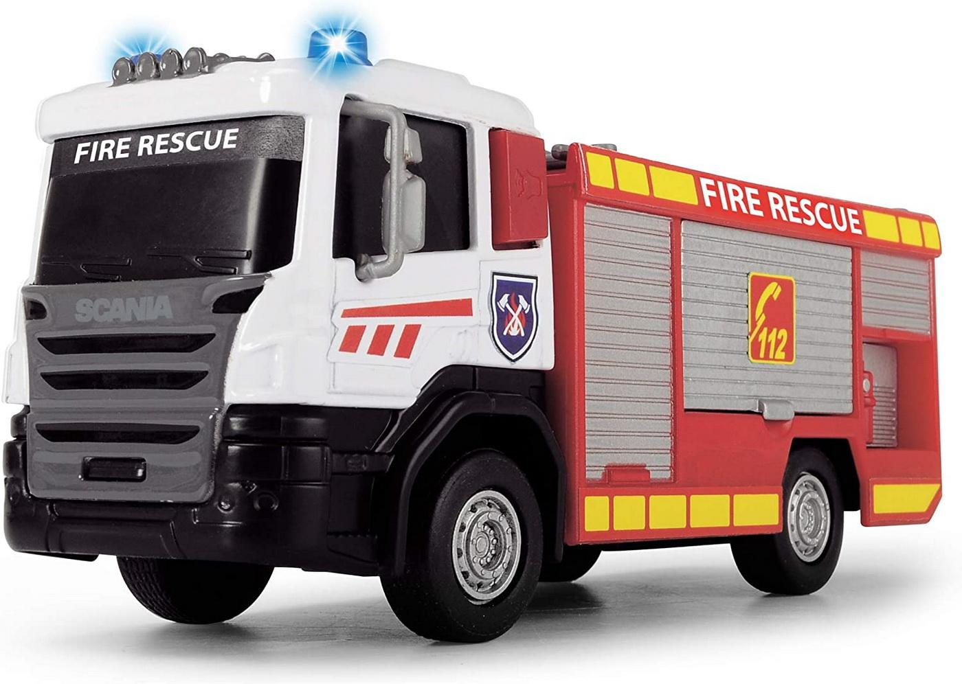Masinuta - Scania Fire Rescue, cu scara | Dickie Toys
