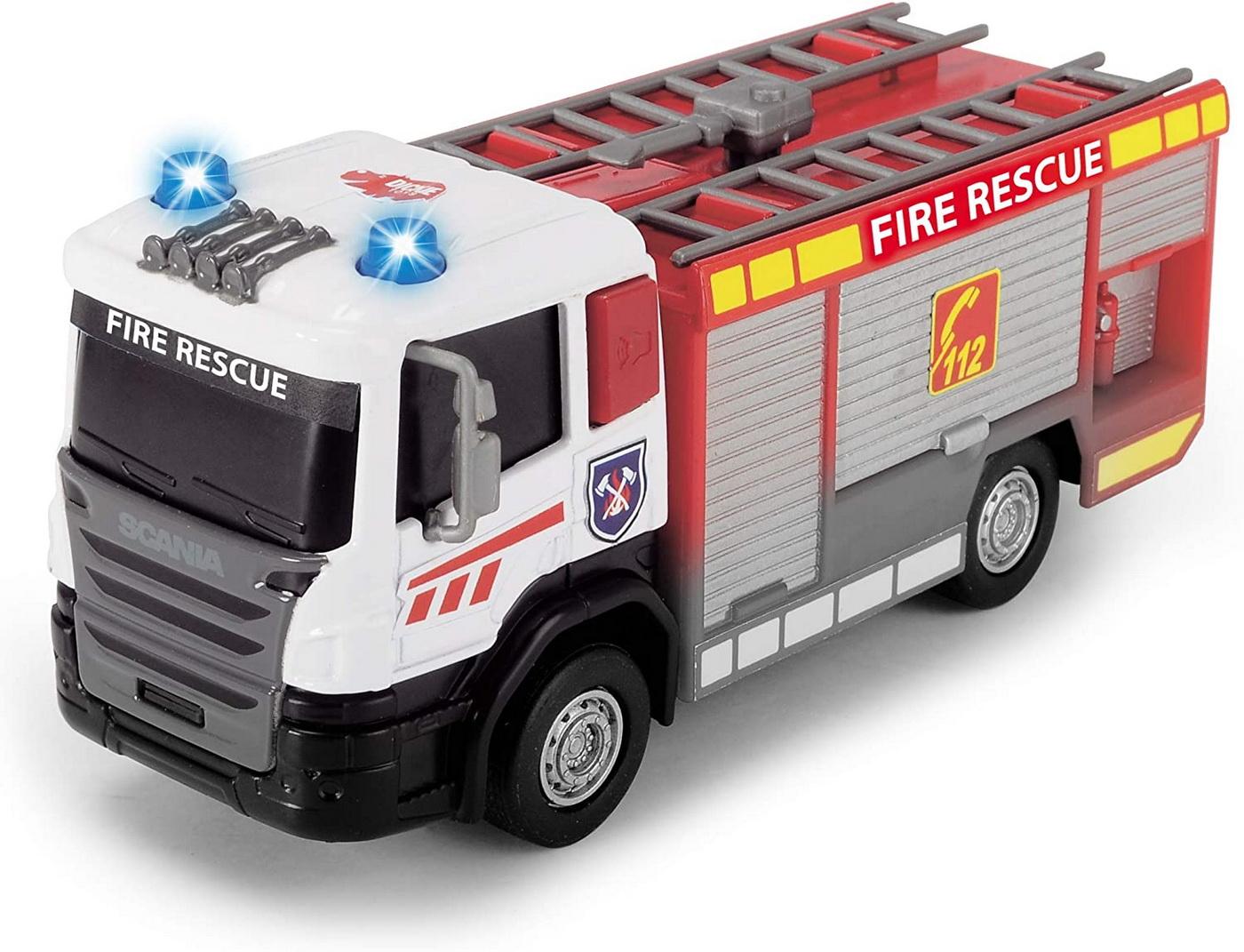 Masinuta - Scania Fire Rescue, cu scara   Dickie Toys - 1