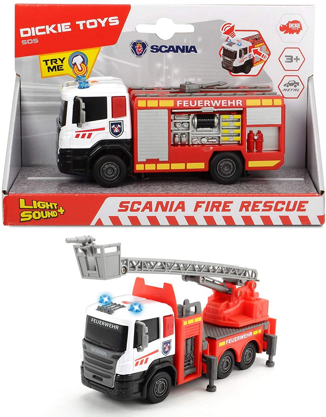 Masinuta - Scania Fire Rescue, cu tun cu apa | Dickie Toys