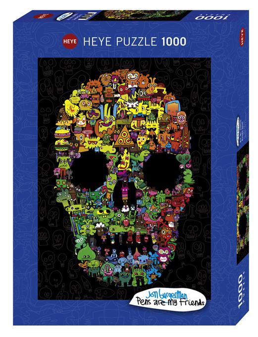 Puzzle 1000 piese - Craniu hazliu   Heye