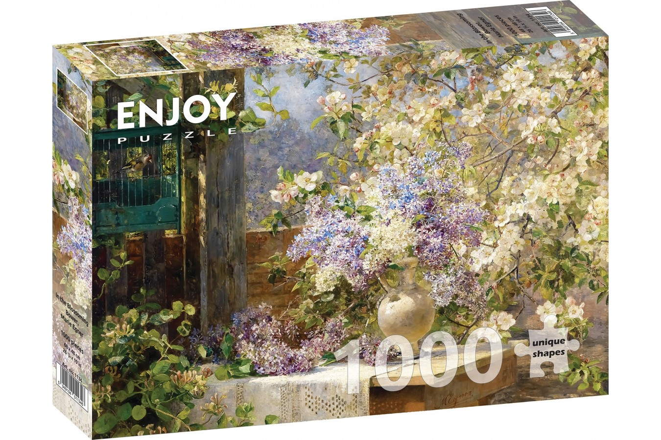 Puzzle 1000 piese - Marie Egner - In the Blossoming Bower | Enjoy