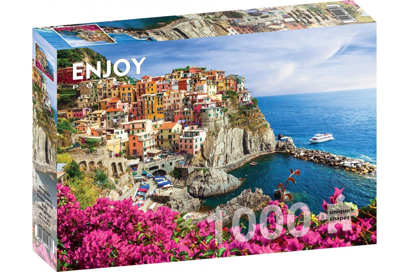 Puzzle 1000 piese - Manarola - Cinque Terre - Italy | Enjoy
