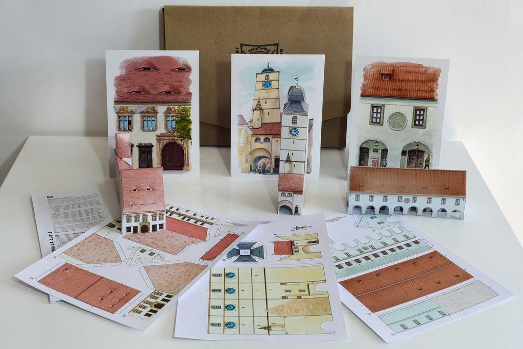 Puzzle 3D - Sibiu la cutie | Timisoara la cutie
