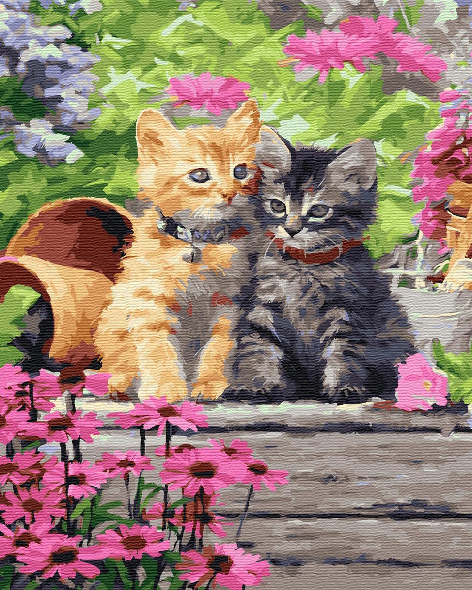 Set pictura pe numere - Kitties, 40x50 cm | Acuarello image0